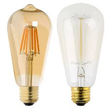 st18 led filament bulb gold tint vintage light bulb 35 watt