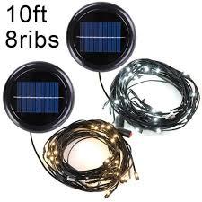10ft 8 rib offset patio umbrella solar string lights color opt