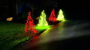 Christmas Trees Prelit Led by S 2 Pre Lit Led 3 U0027 Fold Flat Outdoor Christmas Trees By Lori