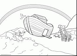 Marvelous Noahs Ark Sunday School Coloring Pages With Bible And Free