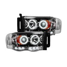 Clear Chrome Truck LED Halo Headlights | Dodge Ram 02-05 | RECON ...