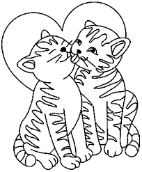 Cute Kitten Cat Coloring Pages Alltoys For
