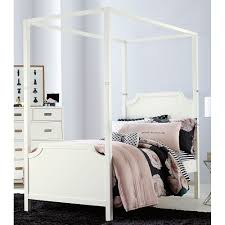 Rc Willey Bunk Beds by White Contemporary Twin Canopy Bed Tinley Park Rc Willey