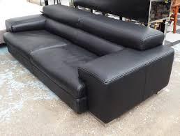 100 Roche Bobois Leather Sofa ROCHE BOBOIS SOFA Black Leather With Adjustable Headrest
