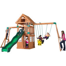 Backyard Discovery Castle Peak All Cedar Playset-54413com - The ... Backyard Discovery Dayton All Cedar Playset65014com The Home Depot Woodridge Ii Playset6815com Big Cedarbrook Wood Gym Set Toysrus Swing Traditional Kids Playset 5 Playground And Shenandoah Playset65413com Grand Towers Allcedar Playsets Amazoncom Kings Peak Monterey Playset6012com Wooden Skyfort