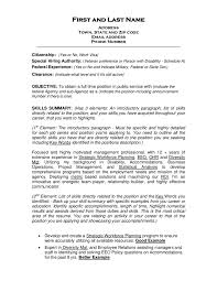 Resume Intro Examples Juve Cenitdelacabrera Co Rh Opening Statement Goal Overview