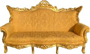 casa padrino baroque 3 seater sofa gold bouquet pattern gold living room furniture lounge antique style