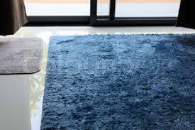 Blue Carpet Softness Texture Decoration Floor Interior Modern House