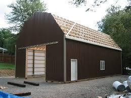 pole barn with gambrel roof truss kit pa u0026 nj apm buildings