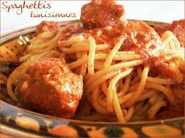 pate a la tunisienne spaghettis tunisiennes boulettes viande délices de tunisie