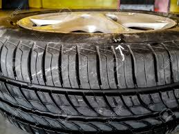 100 Tire By Mark White Arrow Mark The Leaking Point On Car Tire Sometimes The