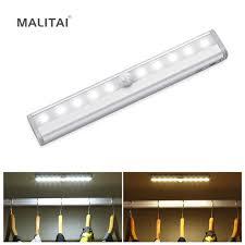 wireless led cabinet light pir motion sensor closet wall l