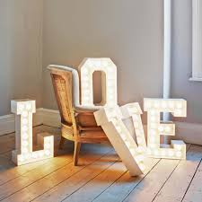LED Letter Lights Marquee Signs Letter Night Light Wall Decoration