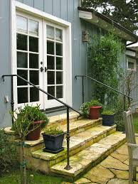 Love These Flagstone Stairs With Simple Iron Railings   Gardens ... 24m Decking Handrail Nationwide Delivery 25 Best Powder Coated Metal Fencing Images On Pinterest Wrought Iron Handrails How High Is A Bar Top The Best Bars With View Time Out Sky Awesome Cantilevered Deck And Nautical Railing House Home Interior Stair Railing Or Other Kitchen Modern Garden Ideas Deck Design To Get The Railings Archives Page 6 Of 7 East Coast Fence Exterior Products I Love Balcony Viva Selfwatering Planter Attractive Home Which Designs By Fencesus Also Face Mount Balcony Alinum Railings 4 Cityscape