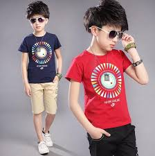 2017 Teenage Boys Sets Summer Clothes Big Set Clothing Kids Children Outfits