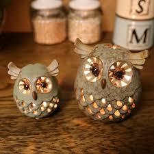 Wholesale Handmade Ceramic Europe Style Owl Candle Holder