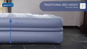 Aerobed Queen Raised Bed With Headboard by Aerobed Platinum Raised Double Airbed En Youtube