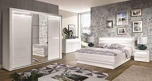 qmm traum moebel schlafzimmer komplett iris c weiß hochglanz