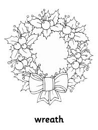 Wreath Free Coloring Pages For Christmas