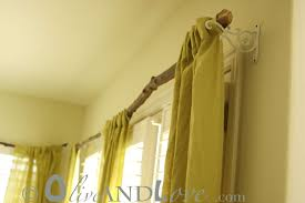 Making A Swing Arm Curtain Rod by Curtains Curtain Pole Ideas Inspiration Make Your Own Tree Branch