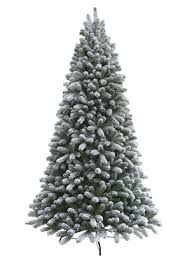 Black Slim Christmas Tree Pre Lit by King Flock Christmas Tree King Of Christmas