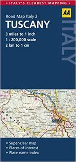 Road Map Tuscany AA Publishing 9780749573386 Amazon Books