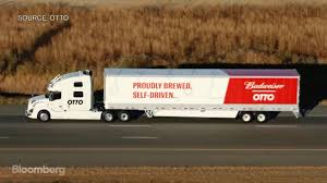 100 Commercial Truck And Trailer Uber SelfDriving Packed With Budweiser Makes First Delivery