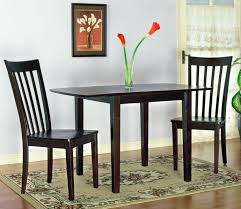 Solid Wood Drop Leaf Table W 2 Chairs In Chocolate Finish Perfect For Your Eat Kitchen Or Dining Room A Lovely Spot Morning Coffee Dinner