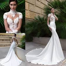 2017 new high neck crystal design mermaid wedding dresses see