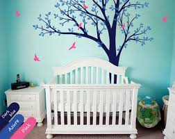 Tree Wall Decor With Pictures by Large Tree Wall Decal Nursery Wall Decor Mural Baby Decals Sticker
