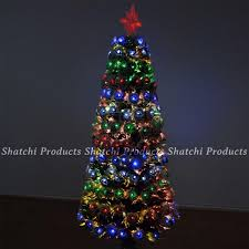 2ft Small Pre Lit LED Fibre Optic Christmas Tree With Snow Xmas Decoration