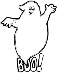 Ghost Coloring Pages For Kids Printable