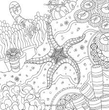 Starfish Ocean Underwater Sea Coloring Pages Colouring Adult Detailed Advanced Printable Kleuren Voor Volwassenen Coloriage Pour