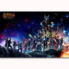 US 548 7 OFFMQ3382 Hot Avengers Infinity War 2018 Movie Thanos Guardians DC Superhero New Art Poster Top Silk Canvas Home Decor Wall Printin