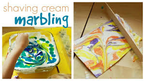 Shaving Cream Marbling With Kids