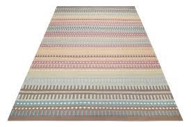 esprit kurzflor kelim teppich aus wolle normad türkis grau rosa