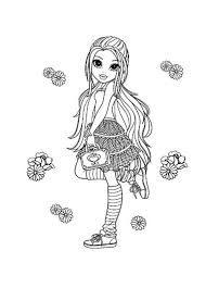Moxie Girlz Flower And Lexa In Coloring Pages