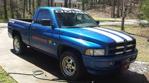 100 Blue Dodge Truck Stock 1996 Ram 1500 Indy 500 18 Mile Drag Racing Timeslip 0