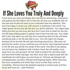 Adorable Quotes If She Loves You Truly And Deeply