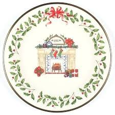 Lenox Christmas Plates Holiday Annual Plate Fireplace Boxed Tree 2017