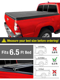 Amazon.com: MaxMate Tri-Fold Truck Bed Tonneau Cover Works With 2002 ...