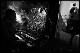 Music Studio Keyboards Black And White