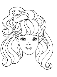 Barbie Easy Drawing Colouring Pages