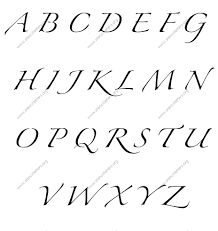 cursive letters az lowercase and uppercase Savesa