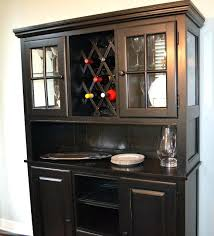 Dining Room Wine Cabinet Interesting Hutch With Rack Bar Near Me