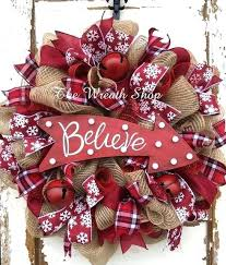 Christmas Reef Ideas Wreath For New Season Decorating With Ribbon