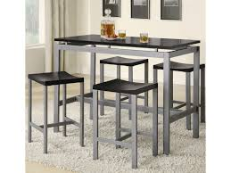 Atlus Counter Height Contemporary Silver Metal Table With Black Top And 4  Stools By Coaster At Value City Furniture 5 Pcs Black Metal Frame Marble Finished Top Ding Table Set 5piece Brown Wood Chairs With Cushions Kitchen Tables Winsome Fniture Iron Woodard Quick Ship Cafe Series Wrought Chair In Textured 39 Blueribbon High Back Wooden Costway Piece Breakfast Cramco Trading Company Starling Round Glass Pub W Only By Inc At Value City Details About Tempered And 36 Natural Laminate Grid Vinyl Seat Seats 4 Ktaxon Leather Chairsglass Room Fnitureblack Small And Design Ideas