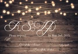 Rustic Wooden String Light Mason Jar Wedding Invites EWI395