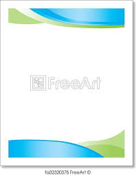 Free Art Print Of Blue Green Swirl Letterhead