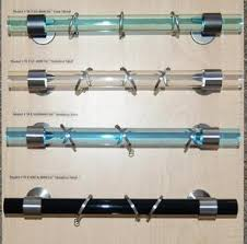 Acrylic drapery rods and poles for window treatments